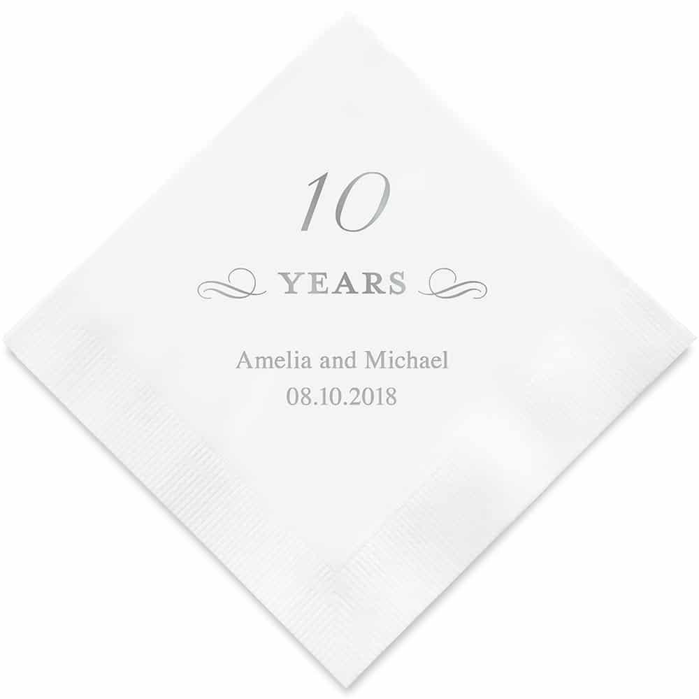 10 Years Bedrukte Servetten