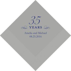 35 Years Bedrukte Servetten