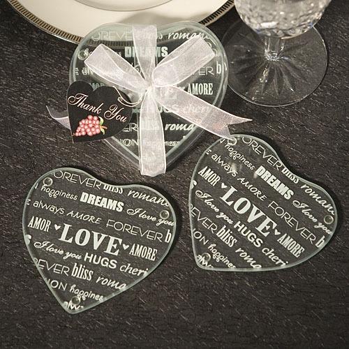 Glazen Onderzetters Words of Love