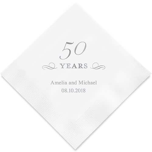 50 Years Bedrukte Servetten