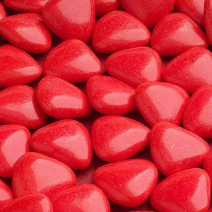Hart Chocolade Dragees Rood