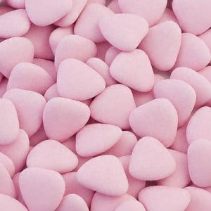 Hart Chocolade Dragees Roze