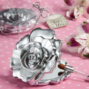 Roos Design Compact Spiegeltje Zilver