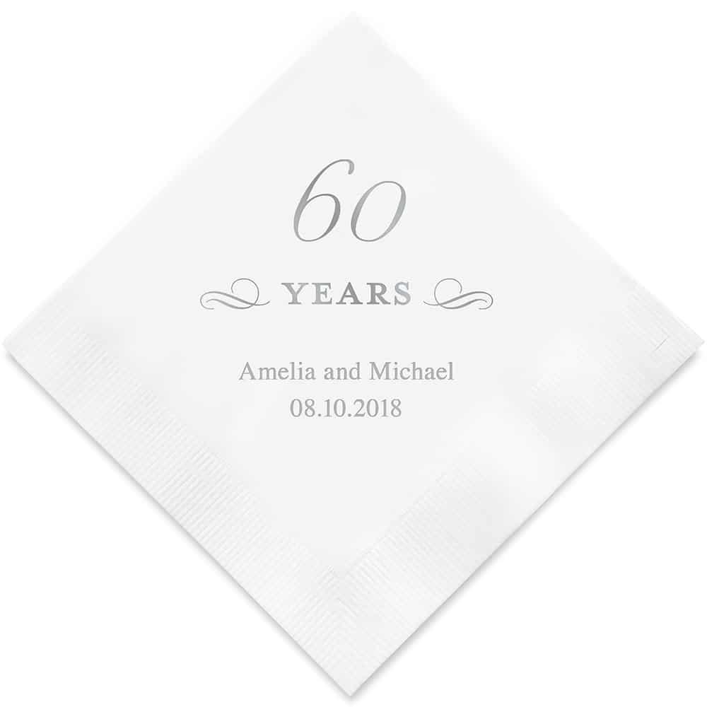 60 Years Bedrukte Servetten