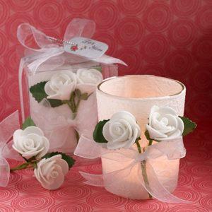 Waxinelichtje Witte Roos