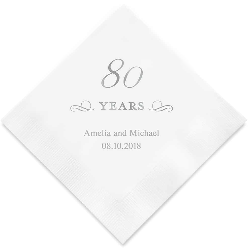 80 Years Bedrukte Servetten
