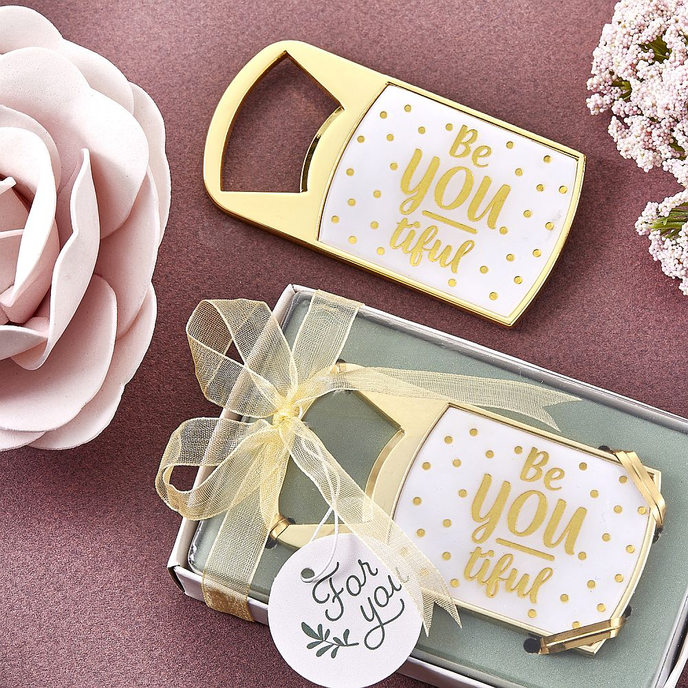 Be-You-tiful Flessenopener Goud