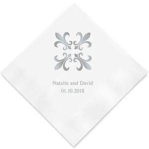 Persoonlijke Servetten Fleur de Lis Design