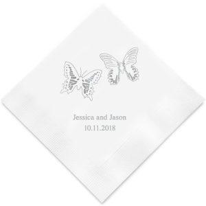 Persoonlijke Servetten Vlinder Design