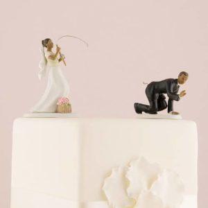 Bruidegom Aan de Haak Geslagen Getint