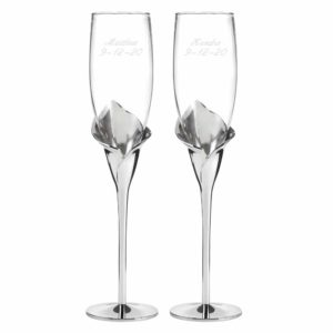 Champagneglazen Calla Lily
