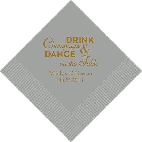 Champagne & Dance Bedrukte Servetten