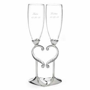 Champagneglazen Romantiek
