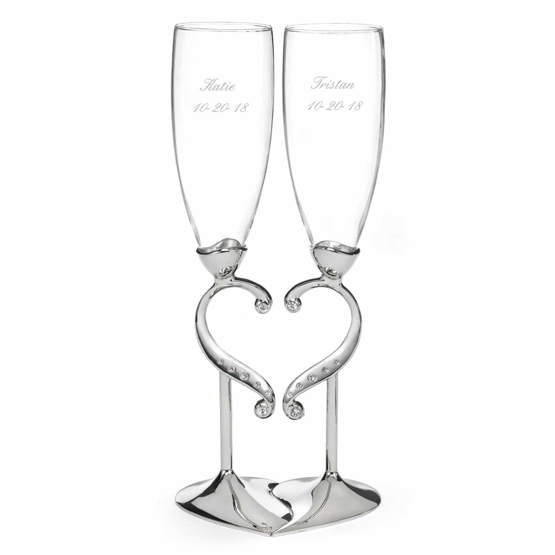 Spiksplinternieuw Champagneglazen Romantiek voor de romantische bruidsparen AF-69