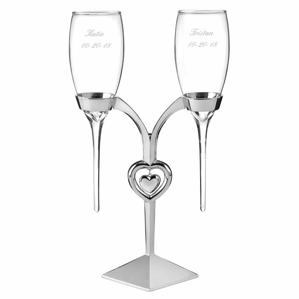 Champagneglazen in Hart Design Standaard