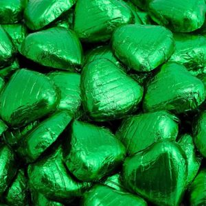 Chocolade Harten in Emerald Folie