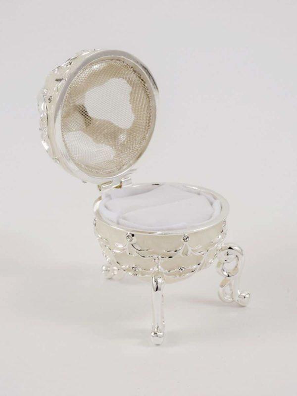 Decoratief Zilver Design Ringendoosje