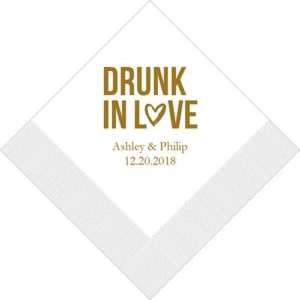 """Drunk In Love"" Bedrukte Servetten"