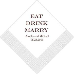 Eat Drink Marry Bedrukte Servetten