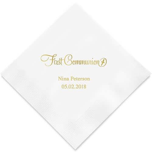 First Communion Bedrukte Servetten