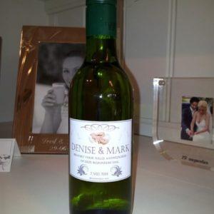 Bruidsweken Wit Wijnflesjes Etiketten