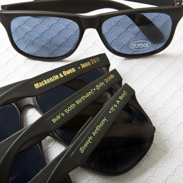 Gepersonaliseerde Zonnebrillen Zwart