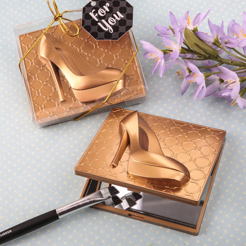 Gouden Stiletto Make-up Spiegeltje