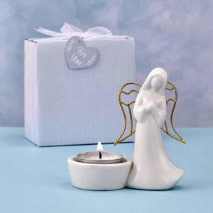Guardian Angel-kaarsenhouder Keramiek