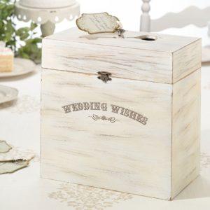 Houten Enveloppendoos Wedding Wishes
