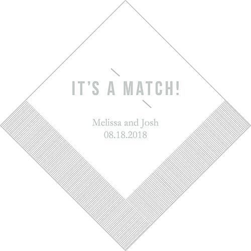 It's A Match! Bedrukte Servetten