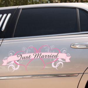 Just Married Auto Decoratie