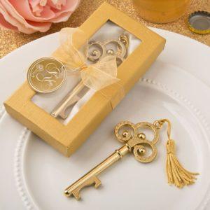 Key to my Heart Flesopener Goud