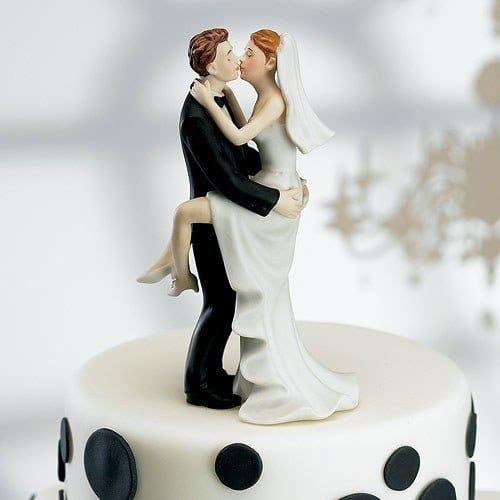 Kissing Couple Taart Topper