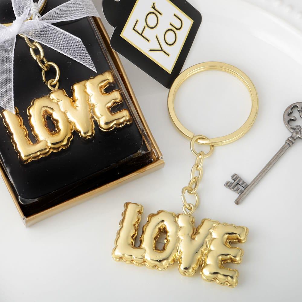 LOVE Sleutelhanger Goud