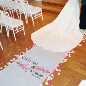 Loper met voornamen en datum voor het huwelijk