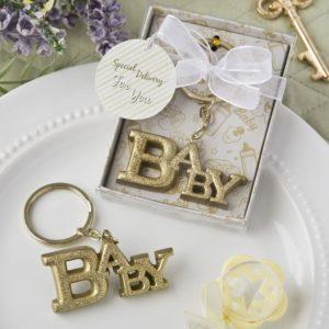 Luxe Baby Thema Sleutelhanger Goud