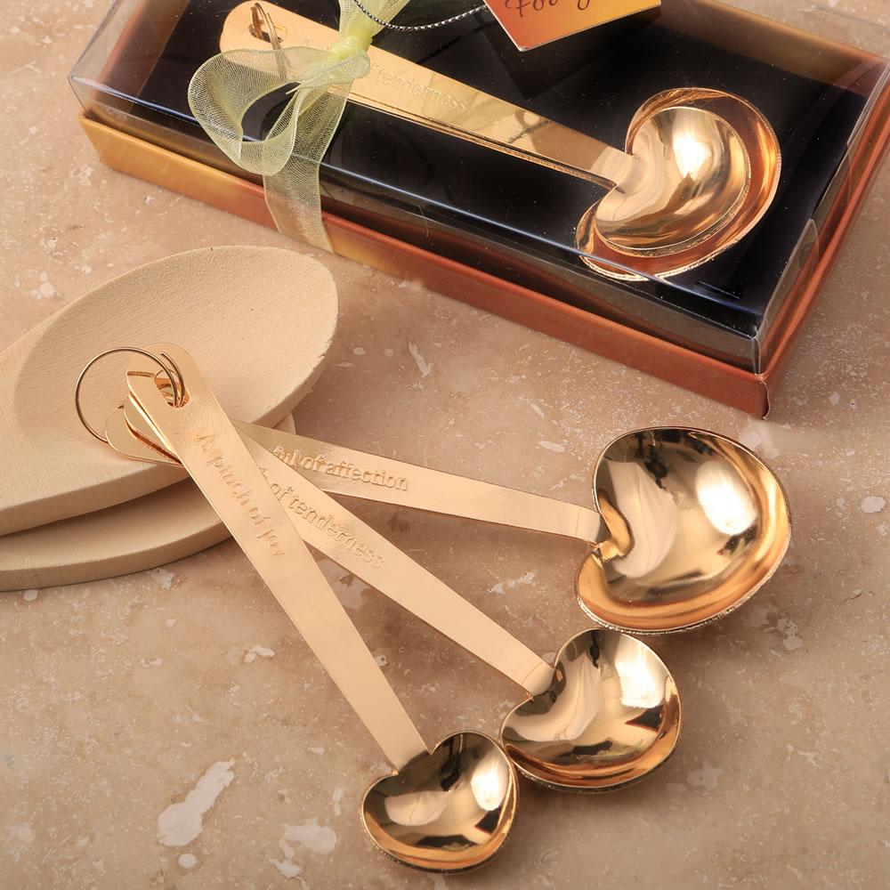 Maatlepels Hart Design Goud