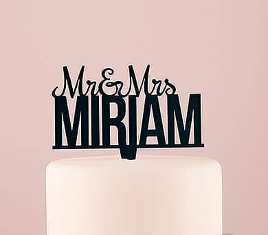 Mr and Mrs taarttopper gepersonaliseerd