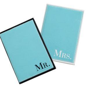 Mr. & Mrs. Aqua Paspoorthoesjes
