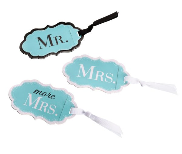 Mr., Mrs. & More Mrs. Aqua Kofferlabels