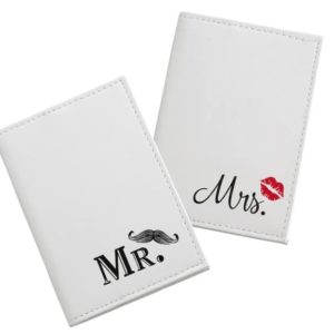 Mustache & Red Lips Paspoorthoesjes