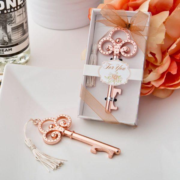 Roségoud Vintage Skeleton Key Flesopener