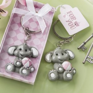 Schattige Babyolifant Sleutelhanger Roze