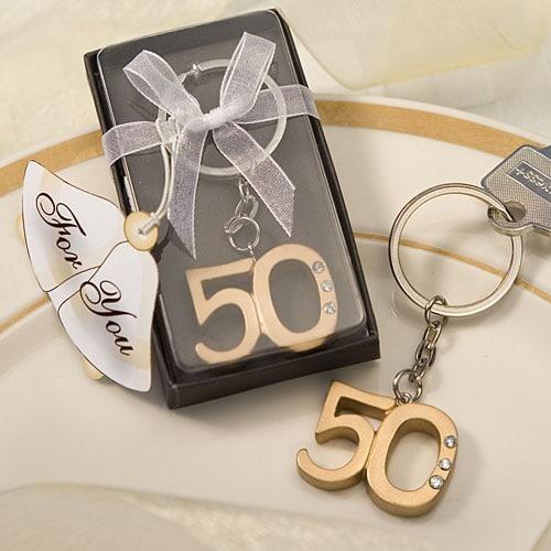 Sleutelhanger 50 jaar Jubileum Bedankjes