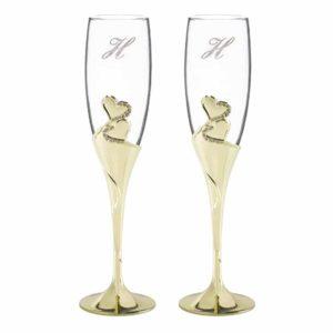 Champagneglazen Goud Sparkling Love
