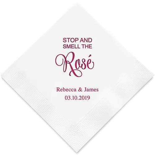 Stop And Smell The Rosé Bedrukte Servetten