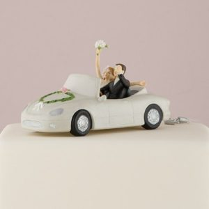 Taarttopper Just Married Trouwauto