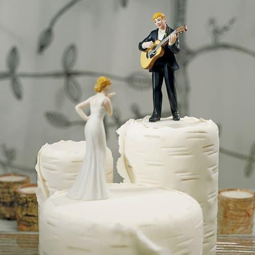 Taarttopper de Gitaar spelende Bruidegom