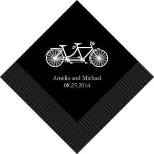Tandem Bike Bedrukte Servetten