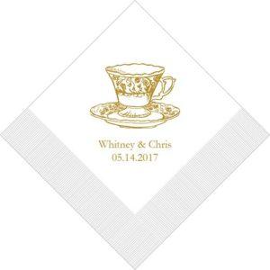 Vintage Tea Cup Bedrukte Servetten